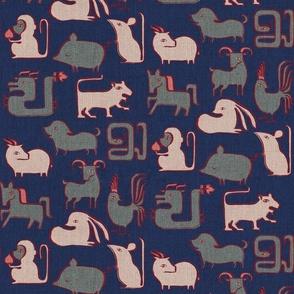 Chinese Zodiac {Indigo}