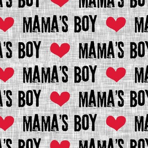 (large scale) Mama's boy - valentines day fabric C19BS