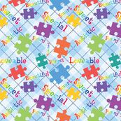 Autism Acceptance plaid