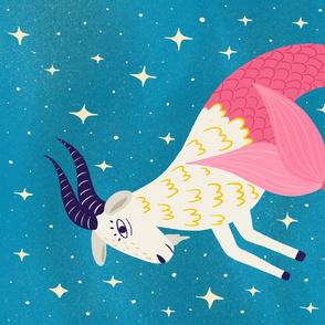 Capricorn Zodiac Tea Towel