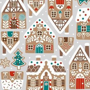 gingerbread village - light grey, small