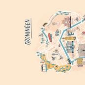 Groningen citymap - The Netherlands