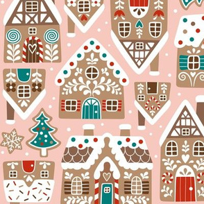 gingerbread village - light pink, small