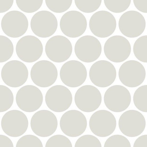 Polka Dots neutral grey