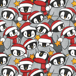 Festive Penguins (larger scale)