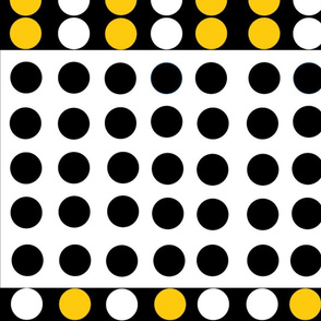 Black-Yellow-White Dots