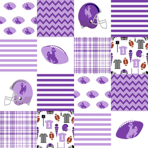 """wyoming quilt - 6"""" squares - purple and lavender"""