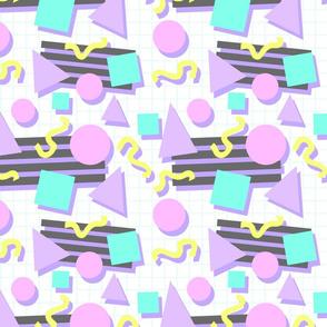 Pastel Retro 80s/90s Geometric Pattern