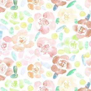 Blush pink bloom in Saint-Tropez • watercolor soft florals
