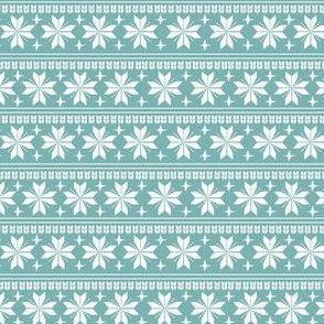 nordic christmas fabric - knit sweater fabric, ugly sweater fabric, scandi christmas fabric, winter cross fabric - winter blue