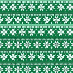 nordic christmas fabric - knit sweater fabric, ugly sweater fabric, scandi christmas fabric, winter cross fabric - bright green