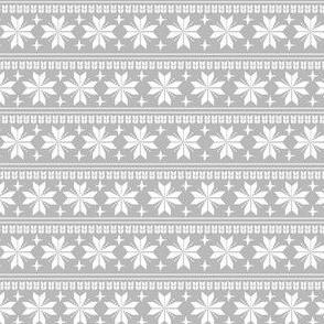 nordic christmas fabric - knit sweater fabric, ugly sweater fabric, scandi christmas fabric, winter cross fabric - grey