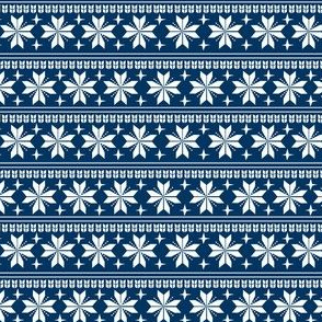 nordic christmas fabric - knit sweater fabric, ugly sweater fabric, scandi christmas fabric, winter cross fabric - navy