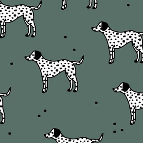 Little minimal dalmatian puppy dog friends kids autumn winter sage green