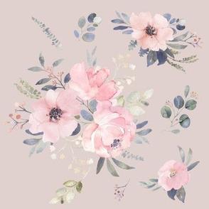 Countryside Blush Bouquet on Blush