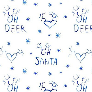 Oh deer, oh santa • watercolor christmas