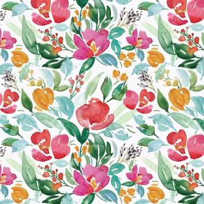 Bright Watercolor Florals