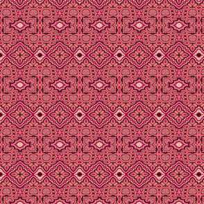 Muted Red Damask