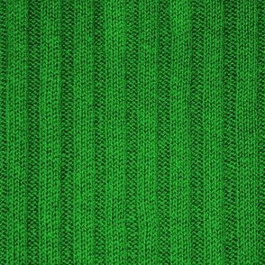 Ribbed Knit Pattern Green