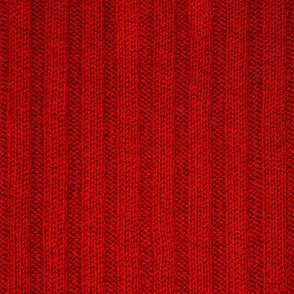 Ribbed Knit Pattern Red