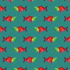 Salmon Run- Teal