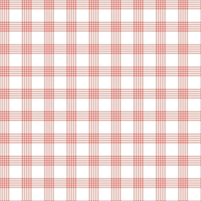 Scandi Flair-Red-Grid-Small Scale
