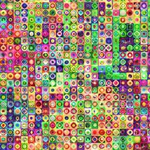 mini tiles chuck multicolor summer 3d bumpy Paysmage