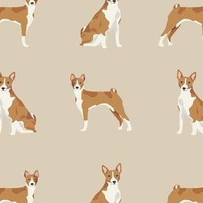 basenji dog fabric - basenji dog, basenji fabric, dog fabric, dogs fabric, cute dog, pet - tan