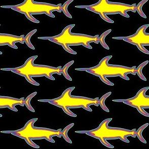 Swordfish Retro yellow on black