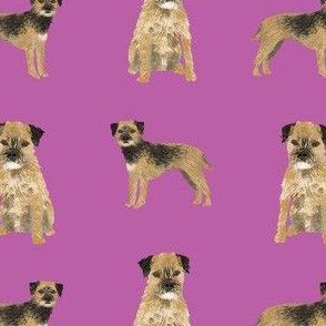 border terrier dog fabric - dog fabric, border terrier fabric, holiday dog fabric, christmas dog fabric - purple