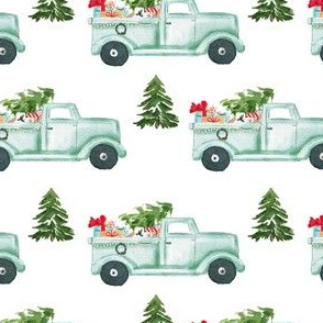 "4"" Holiday Truck with Gifts"
