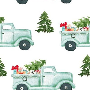 "8"" Holiday Truck with Gifts"