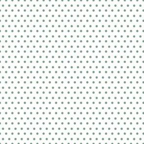 """8"""" Sage Green Polka Dots"""
