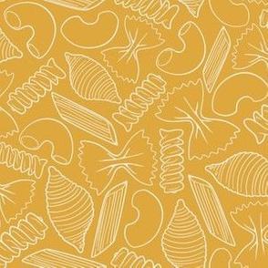 Pasta Lines - Mustard/Ivory