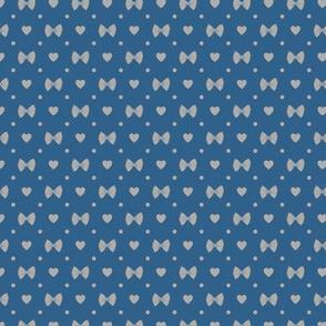 Polka Dot Heart Pastas - Navy/Grey