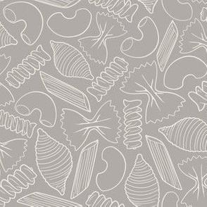 Pasta Lines - Grey/Ivory