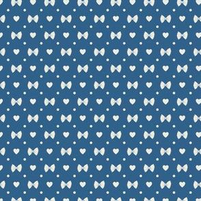 Polka Dot Heart Pastas - Navy/Ivory