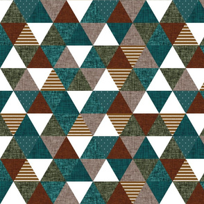spruce + copper + olive + mocha triangles