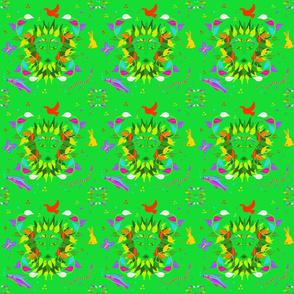 Green Woman Fantasy Small by DulciArt,LLC