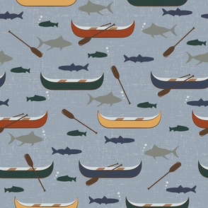 Wilderness Canoes and Fish