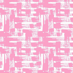 Crosshatch in Shell Pink