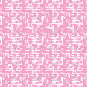 Little Crosshatch in Shell Pink