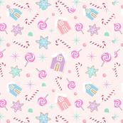 Sweet pink gingerbread