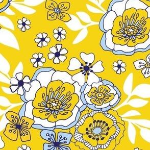 Queenwood Garden yellow Blue White