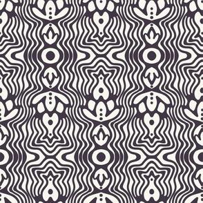 Modern geometric hand drawn curve lines.