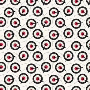 Tiny arrow bullseye red directional pattern. Web pointer background.