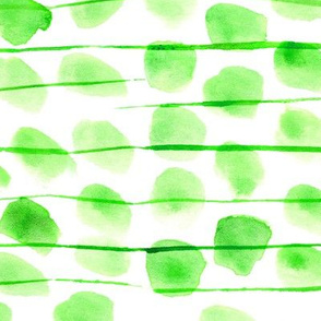 Greenery stains with lines • watercolor abstract modern print