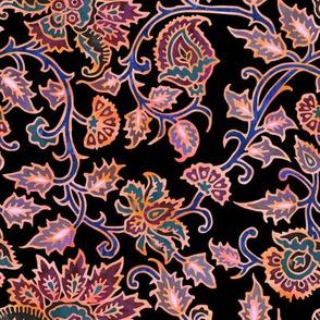 mendhi floral_black