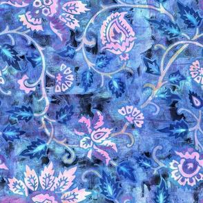 mendhi floral_blue vintage