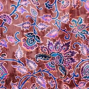 mendhi floral_maroon vintage